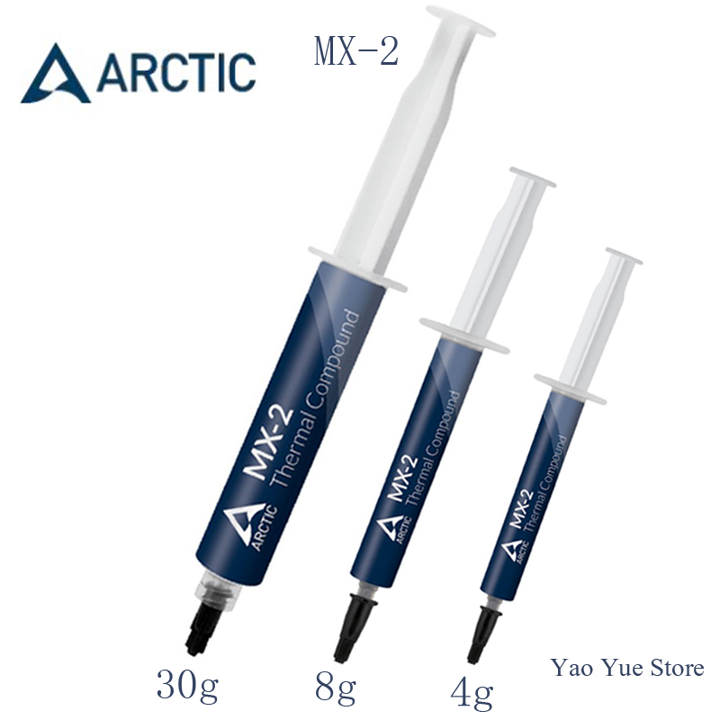 ARCTIC MX-2 4g 8g 30g processor CPU GPU COOLER Thermal Compound Thermal Grease Conductive Heatsink Plaster fan Thermal paste gd450 thermal conductive grease paste silicone plaster heat sink compound net weight 1000 grams golden for led cpu cooler cn1000