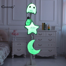 CV Glow In The Dark Pillow Owl Moon Star Bulb For Kids