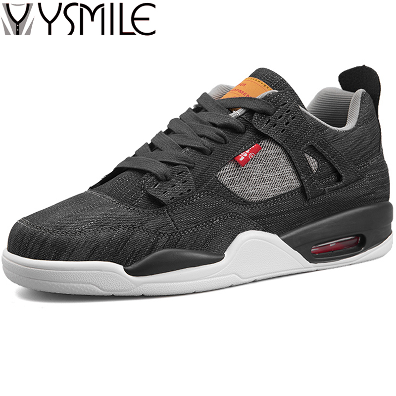 High Quality Fashion Canvas Herre Casual Shoes Sneakers Black Air - Mænds sko