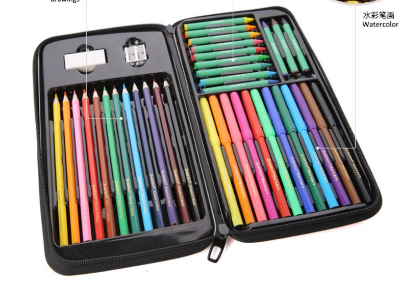 painting Stationery Set / Child crayon drawing / watercolor pen color of lead / exquisite gift box school supplies /tb170810 mungyo stationery set 12 24 48 color art solid watercolor painting pigment write iron box packaging