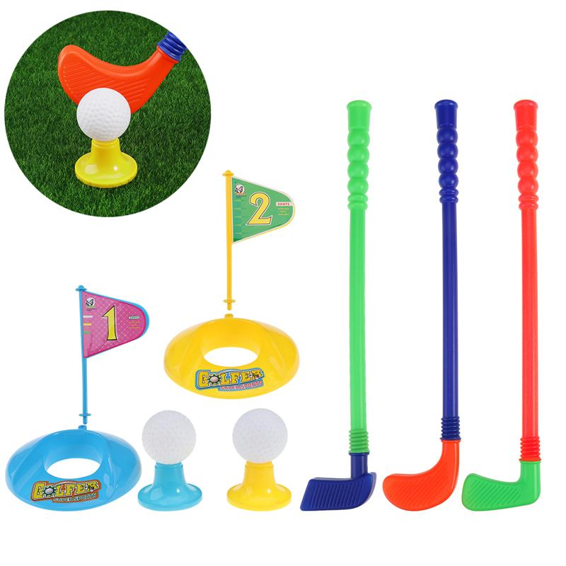 Golf Toy Set With 2 Balls Sports Toys Colourful Developmental Perfect Outdoor Play Golfer For Children