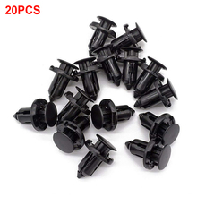 20pcs Auto Fastener Bumper Clips Engine Cover Car Black Push Type  Liner Plastic Parts For Honda