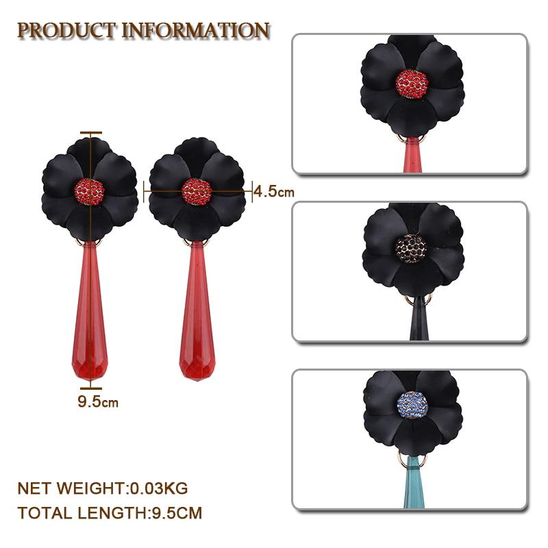 Best lady Boho Romantic Resin Flower Dangle Pendants Statement Drop Earrings Wonder Gifts For Women Elegant Jewelry Wholesale