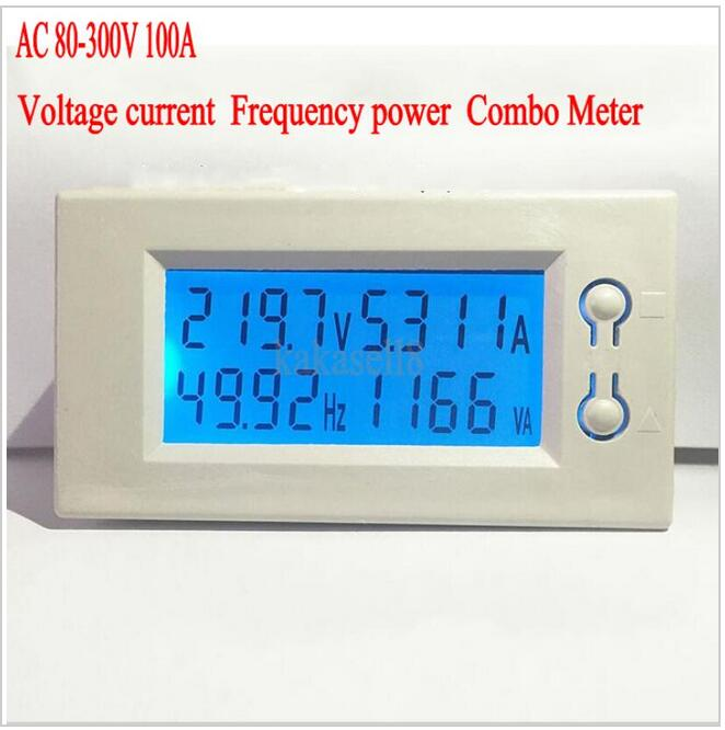 Voltage Frequency Meter : Ac a v digital led power panel meter monitor