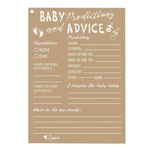 50 Rustic Baby Shower Game Cards Advice and Prediction Cards New Mom&Dad Card To Be For Girl or Boy Babies Kraft Paper pink owl printed diaper raffle tickets baby shower games 50 cards