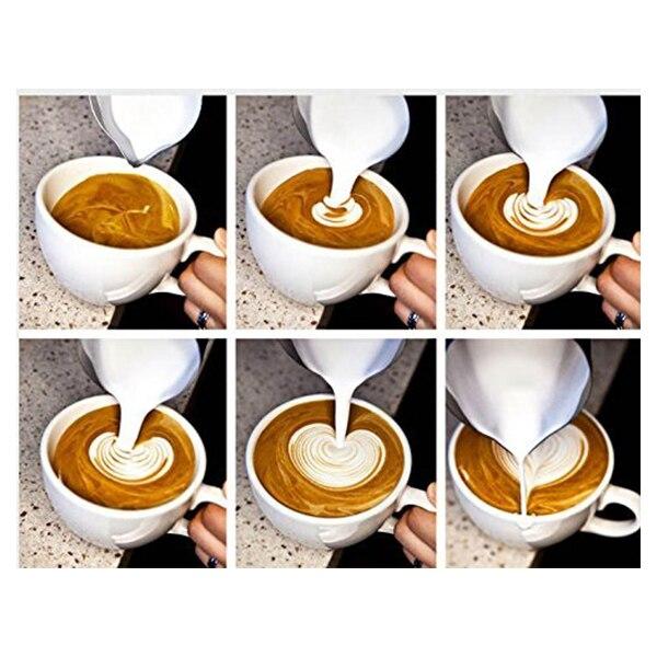 Кувшин для молока из нержавеющей стали, молочные чаши для Frother Craft Кофе Латте Кувшин для крема латте арт (200 мл)