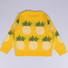 Girl's Fashion Winter Pineapple Printed Sweater
