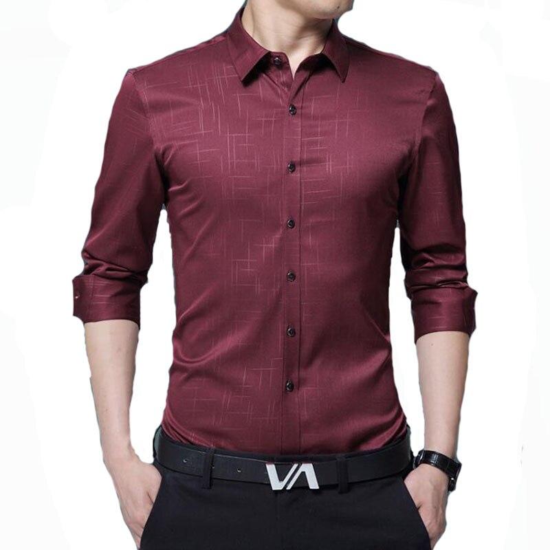 Lüks Artı Boyutu Erkek Gömlek 2017 Sonbahar Gelgit Flora Baskı - Erkek Giyim - Fotoğraf 1