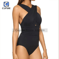 Cupshe Deep Feelings Cross One Piece Swimsuit Women S Sexy Beach Bikini Monokini One Piece Swimsuit