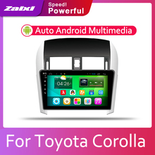 ZaiXi Car Android System 1080P IPS LCD Screen For Toyota Corolla E140 E150 2007~2013 Radio Player GPS Navigation BT WiFi