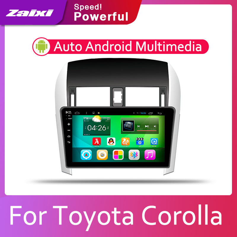 ZaiXi Car Android System 1080P IPS LCD Screen For <font><b>Toyota</b></font> <font><b>Corolla</b></font> E140 <font><b>E150</b></font> 2007~2013 Car Radio Player GPS Navigation BT WiFi image