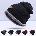 Hot Sale Warm Winter Hat For Man Hat Thick Warm Beanies Skullies Cap Knitted Warm Hat Bonnet Gorros Cap Drop Shipping