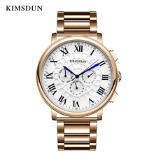 KIMSDUN mechanical watch MEN Automatic Self-Wind ROUND wristwatch 3Bar Water Resistant Fashion & Casual high quality new 2019 все цены