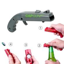 Пистолет для стрельбы, креативная пусковая открывашка для пивных бутылок