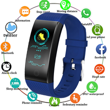 Bluetooth QW18 Smart Bracelet Heart Rate Monitor IP68 Waterproof Color Screen Fitness Tracker Band Watch Outdoor Sport Wristband