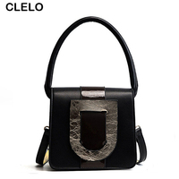 CLELO 2017 Luxury Designer Clutch Handbags Women Top Handle Bags Female High Quality Pu Leather Messenger