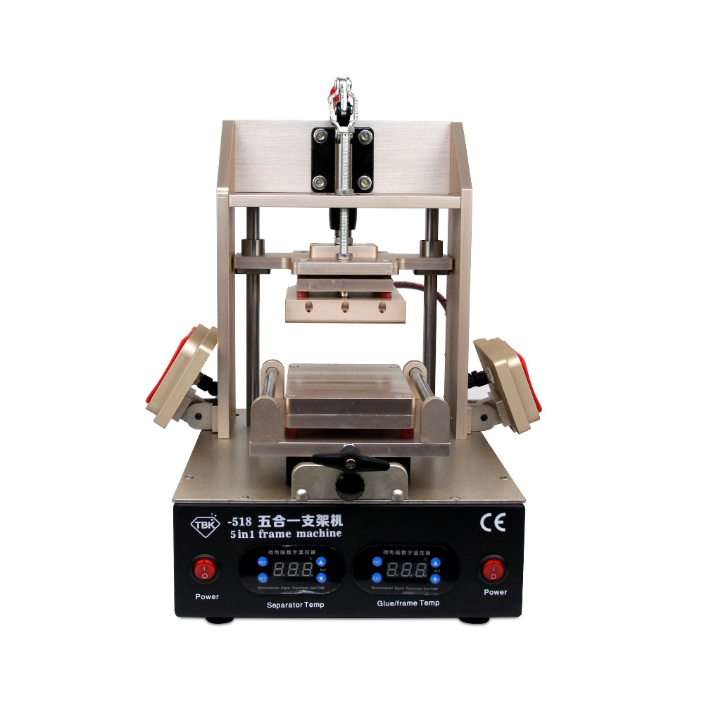 лучшая цена TBK 5 in1 LCD Refurbish Machine Middle Bezel Separator/Frame Laminating Machine/Vacuum LCD Separator/Glue Remover / Preheater