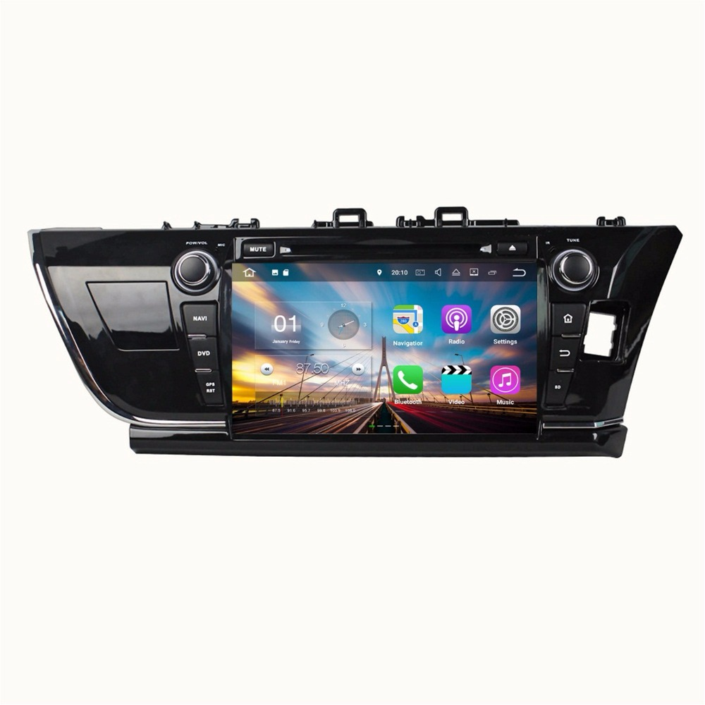 Android 7.1 Quad Core 9 Car radio dvd GPS Navigation for Toyota Corolla 2014 2015 Rigth With Bluetooth WIFI Mirror-link USB DVR