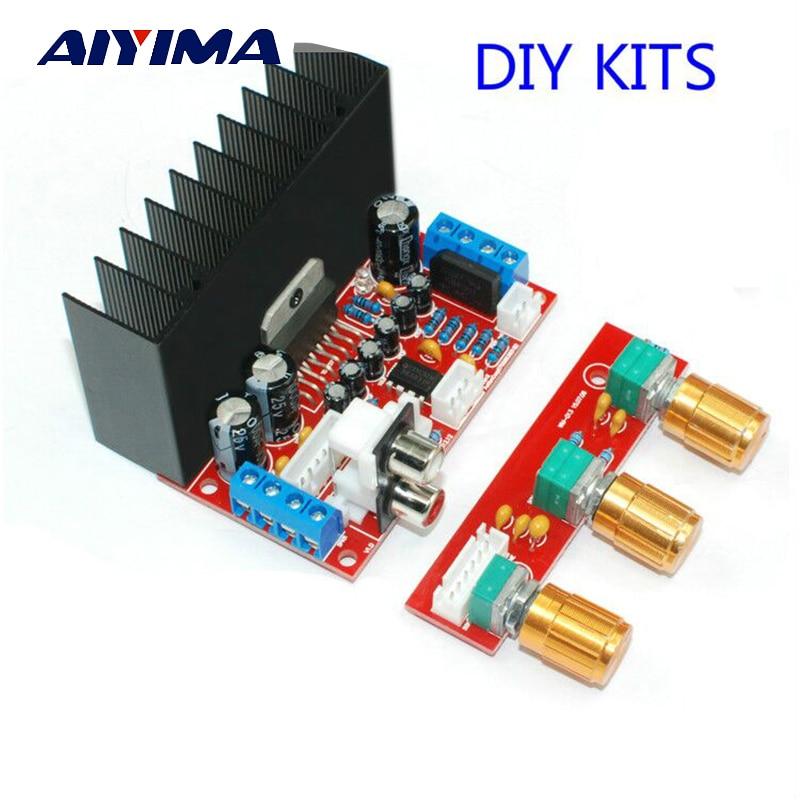 Aiyima TDA7377 Single Power Supply PC Subwoofer Mega Bass 2 1 Amplifier Board DIY KITS