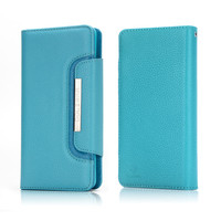 For IPhone 6 Case IPhone 5 Luxury Leather Detachable PU Silicone Wallet Flip Case For IPhone