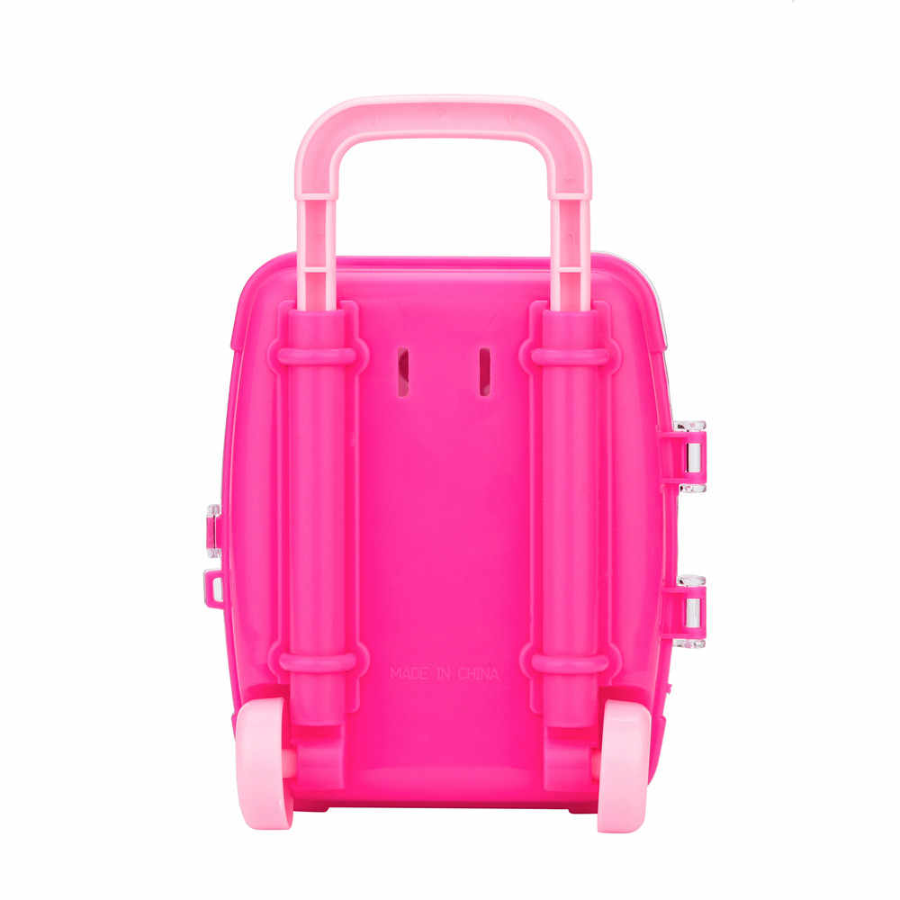 Портативный Детская косметика принцесса макияж окно чемодан Форма корпуса глаз оттеночная помада безопасный нетоксичный девочка игрушка подарок на день рождения