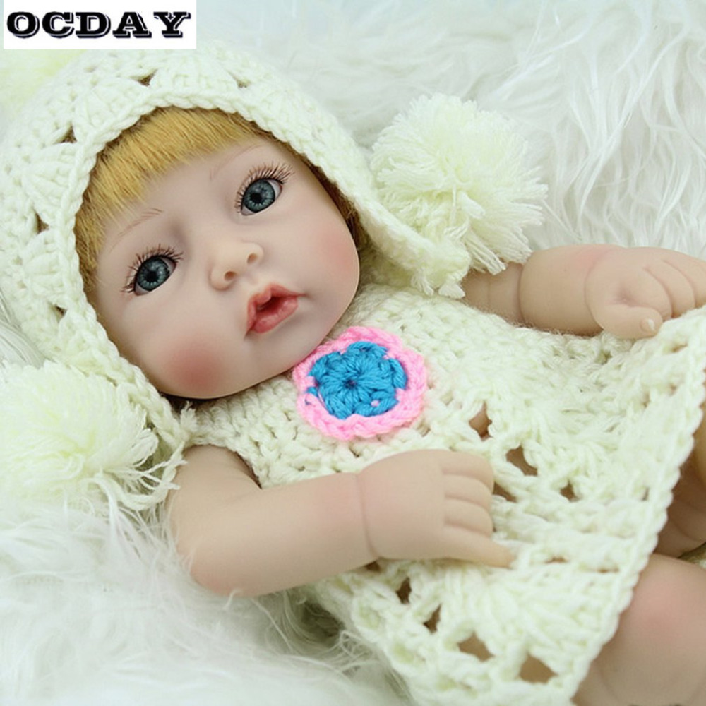 Surprise reborn doll babies with Clothes Handmade Silicone vinyl adorable Lifelike toddler Baby girl boy Funny Doll Toys Gifts