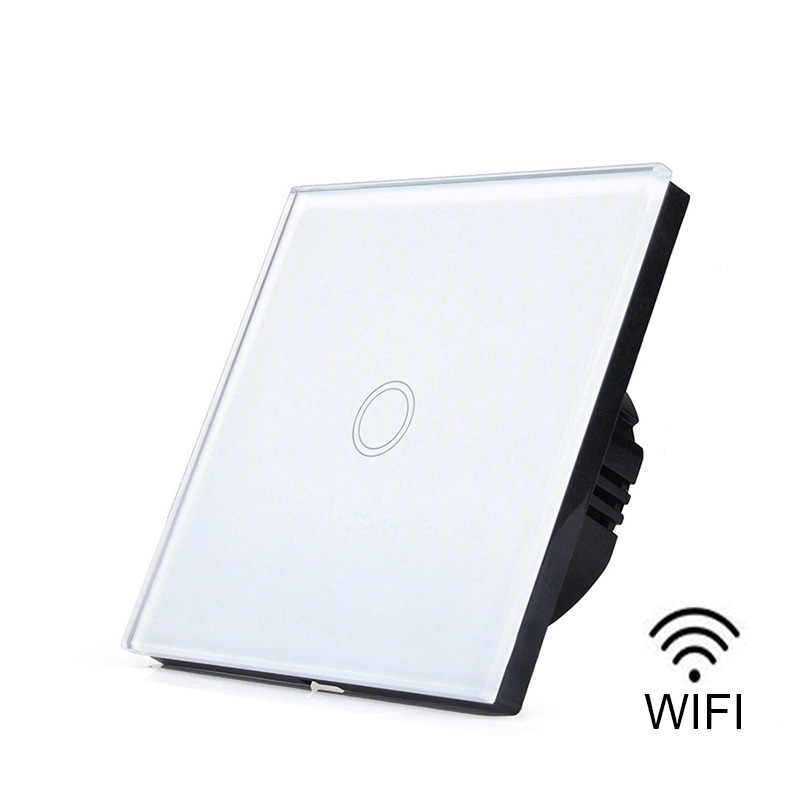 EU/UK 1/2/3 Gang eWelink Light Touch WiFi Smart Switch Interruttore A Parete Con Alexa Google