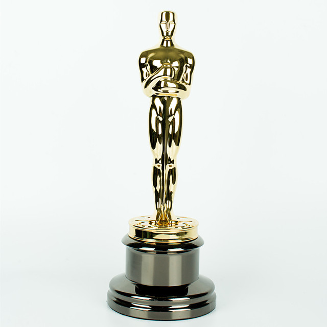 34.3cm Oscar Awards Trophy Replica Academy Award Oscar Statue Gold Zinc
