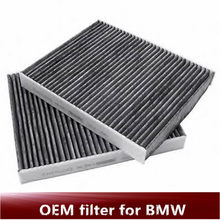 Genuine cabin filter for BMW F01 F02 F07 F10 64119163329 64119272642 Charcoal activated cabin filter set 64119163328 927264(China)