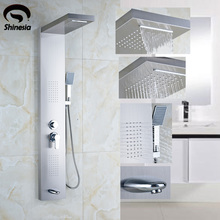 Newly US Round Shower Head Bathroom Column Multifunction Panel Massage Jets Faucet set