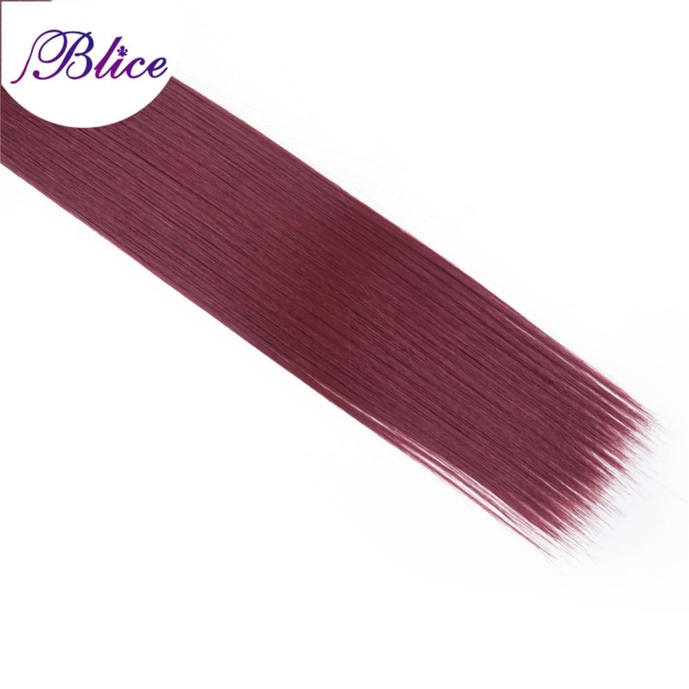 Blice Syntetiska hårförlängningar 5 stycken / Parti 26 tum #BUG - Syntetiskt hår - Foto 3
