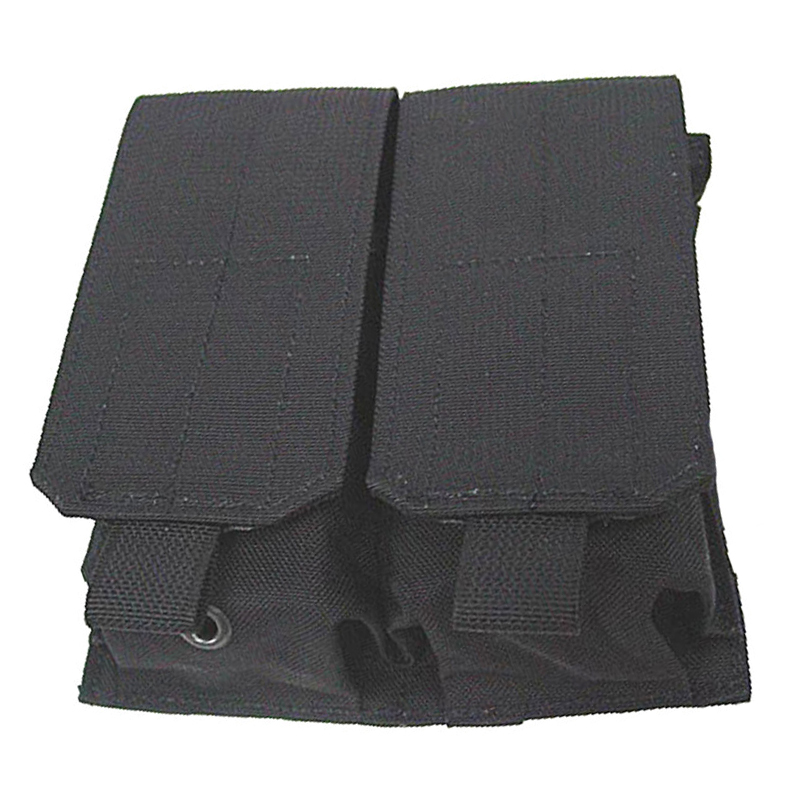 Tactical M4 M16 5.56MM MOLLE PALS Double Stack Rifle Magazine Mag Top Flap Pouch Airsoft Paintball Shooting Molle Ammo bag Black