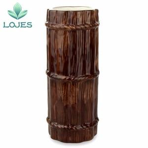 Image 5 - New 470ml Hawaii Tiki Mugs Cocktail Cup Beer Beverage Mug Wine Mug Ceramic Bamboo Tiki Mug