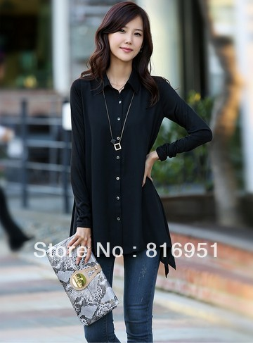 Long Black Blouse