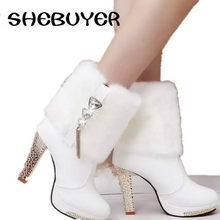 fc913519b7 Popular Rhinestone Boots Wedding Heel-Buy Cheap Rhinestone Boots ...