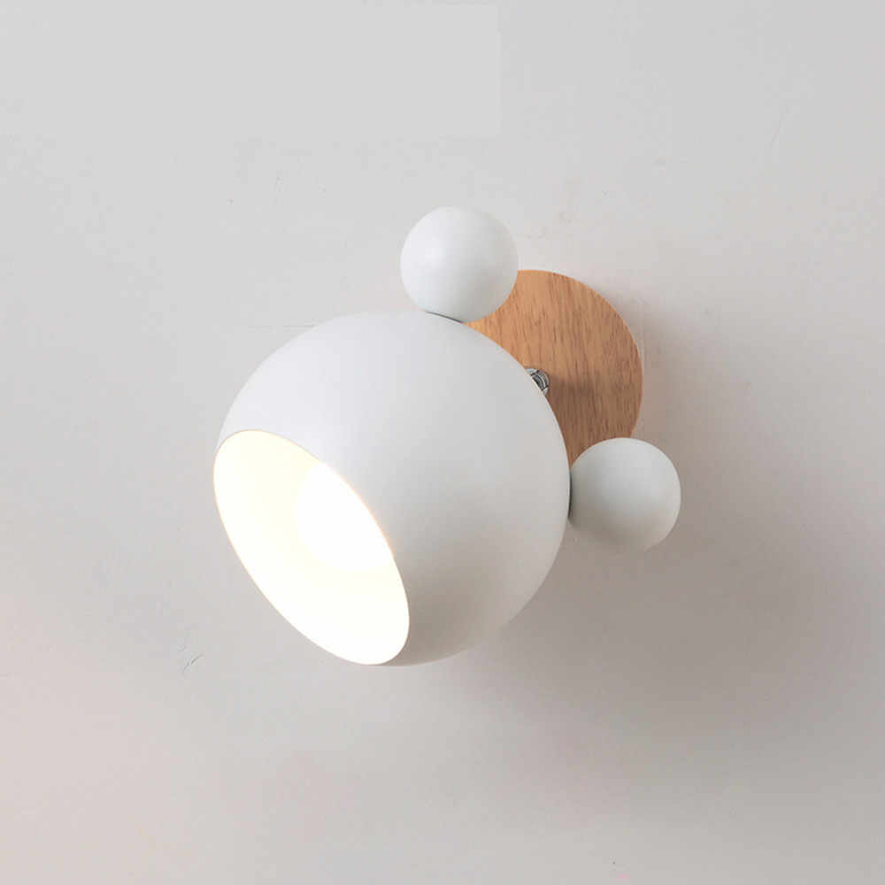 Nordic Bedroom Bedside Lamp Wall Lamp Simple Modern Aisle Corridor Hotel Background Wall Lamp Creative LED Lamp