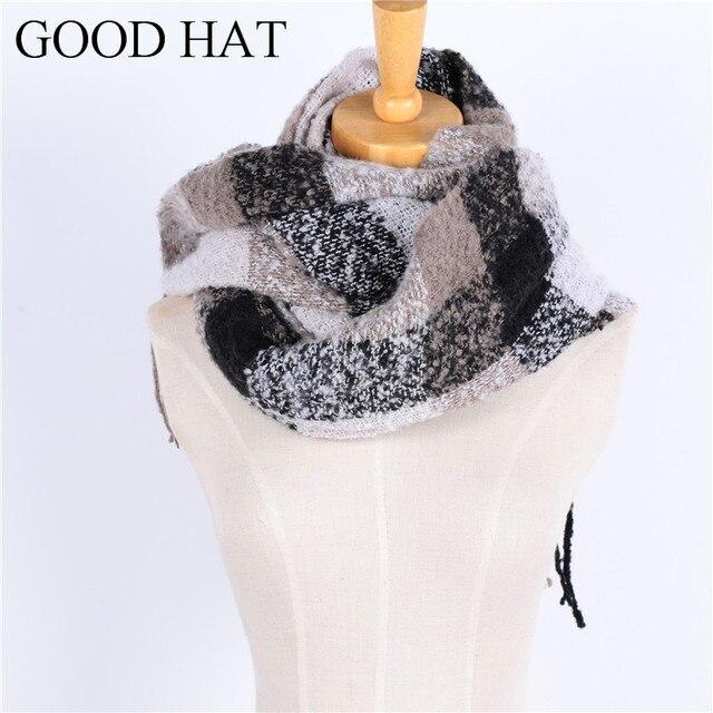 fcdd70c0c7e Nouveau Mode automne hiver sur longueur femmes écharpe Pashmina motif  géométrique glands Garder au chaud doux