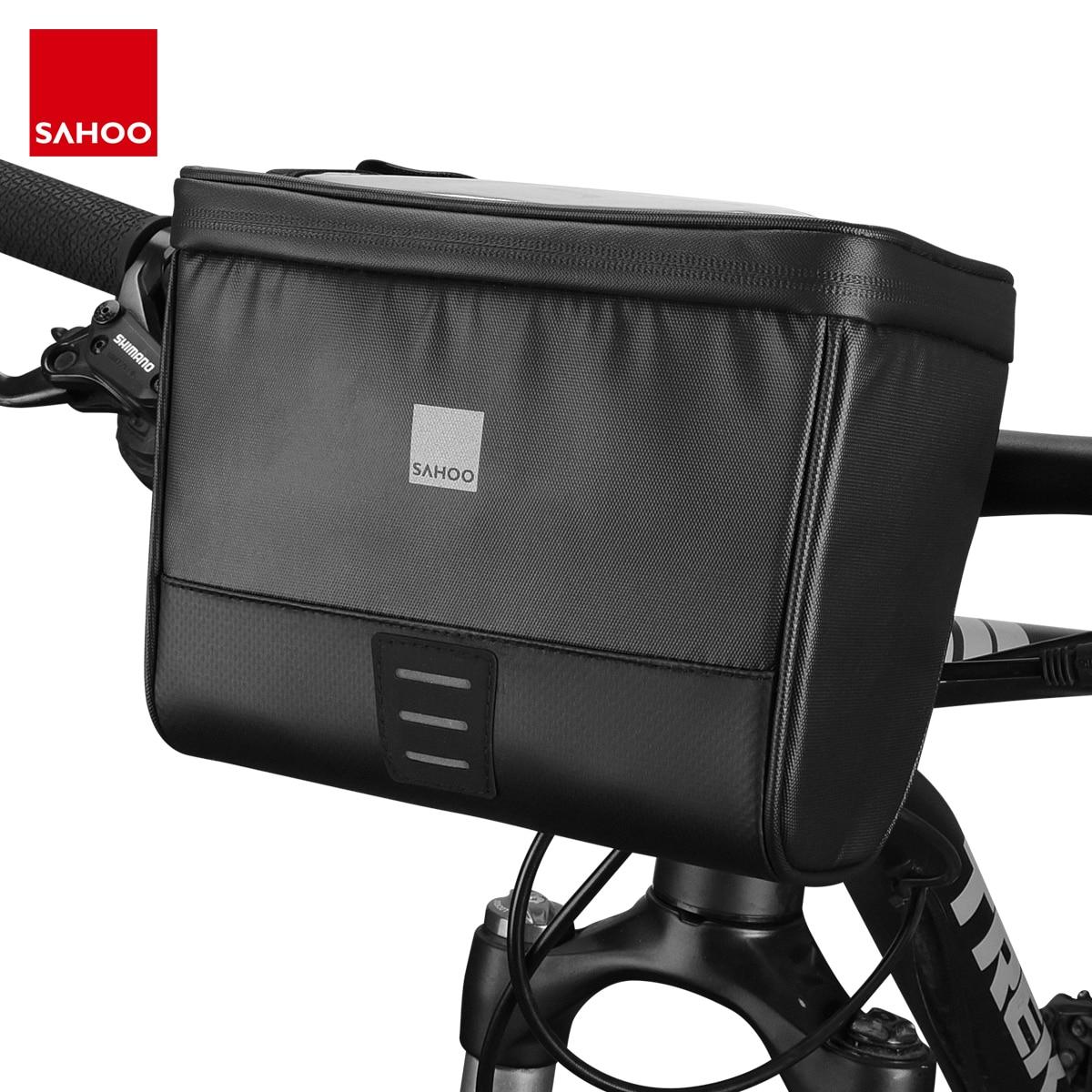 Sahoo Travel Series 112049 Waterproof Touchscreen Cycling Bike Bicycle Map Sleeve Handlebar Bag Pack Pannier Basket Phone Camera