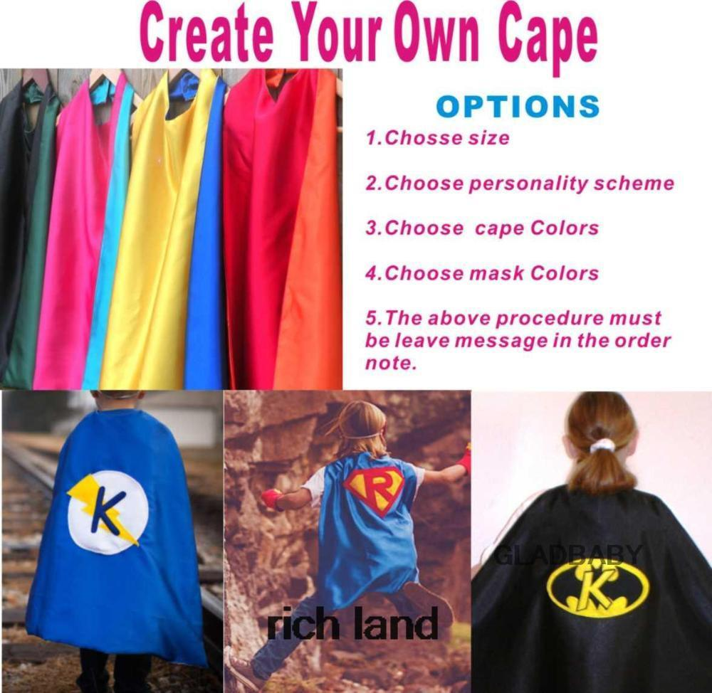 Personalized Kid's Cape, Birthday gift  Custom Super Hero Party Cape halloween cape