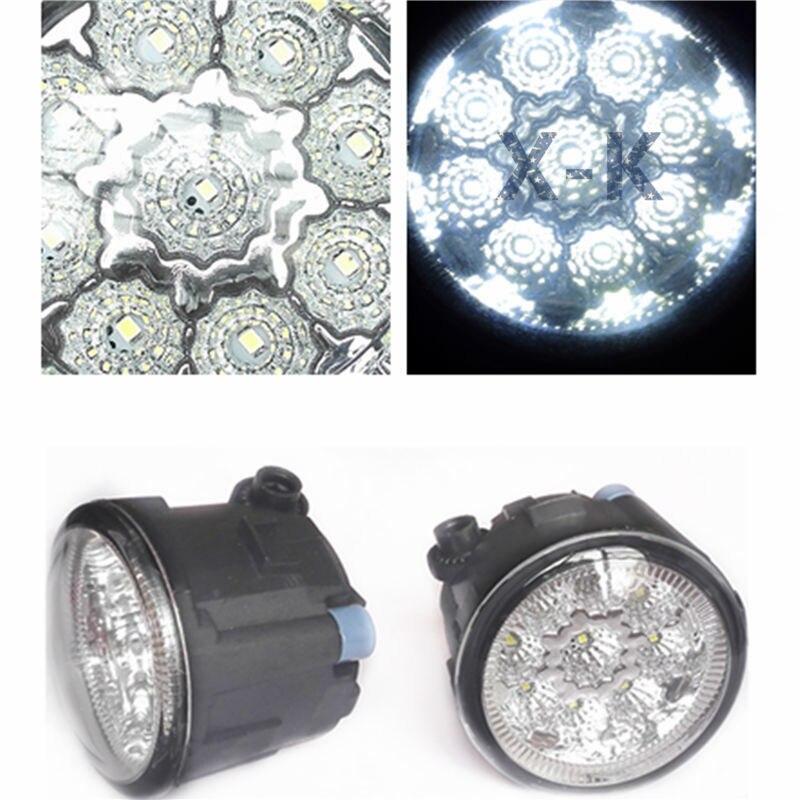For NISSAN X-Trail T31 Vampira Versa Lafesta Presage Rogue 2004-2014 Car-Styling Led Fog Light-Emitting Diodes DRL Fog Lamps