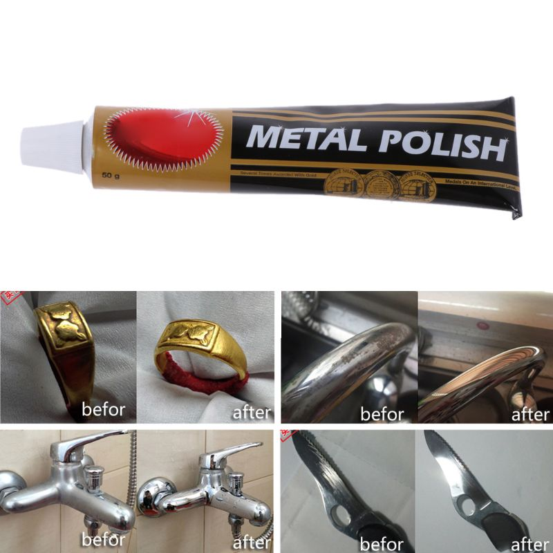 50 Gram Metal Polishing Paste Scratch Repair For Car Metal Kitchen Cleaning -DR56O