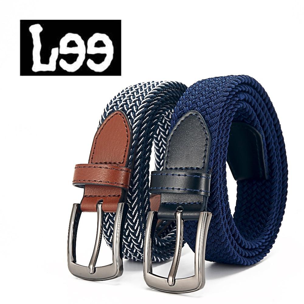 80d042ca4c41 Élastique ceinture de toile tricotée ceinture décoration ceinture femelle  boucle ardillon bracelet en toile femmes et homme 2018 métal boucle casual  ...