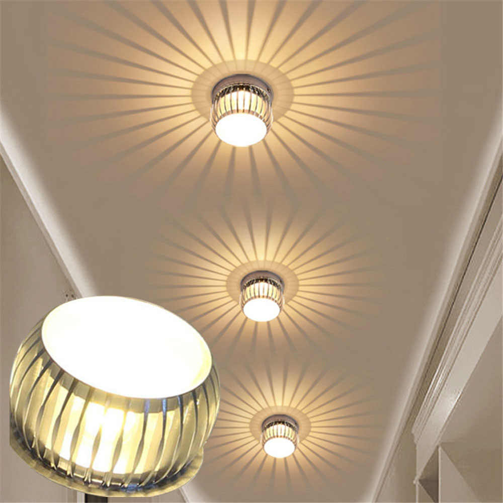 3W LED Entrance light led corridor aisle light LED Downlight LED Ceiling lamp Home Living Room bulbs AC85~265V
