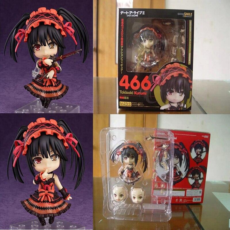 Novo nendoroid anime figura data um ao vivo tokisaki kurumi 466 brinquedos pvc figura de ação modelo boneca crianças brinquedos 4
