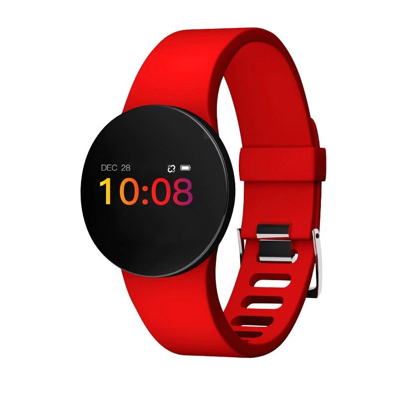 Monitor de ritmo cardíaco reloj inteligente de los hombres y las mujeres Fitness presión podómetro deportes relojes pantalla táctil OLED inteligente impermeable de la banda de muñeca