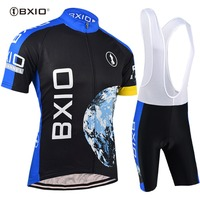 BXIO Cycling Jersey Sets Bicicleta Cycling Clothing For Men Mountain Bike Cloth Wielerkleding Skinsuit Moon Team Ropa Ciclismo