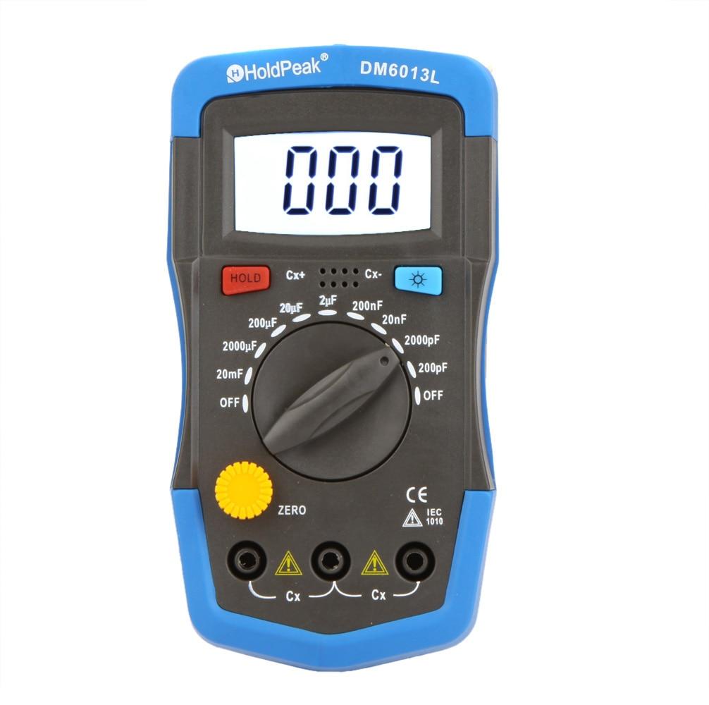 DM6013L Handheld Digital Capacitance Meter Capacitor w/ LCD Backlight