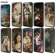 YIMAOC Classic Painting Flower Aesthetic Case for Huawei Mate 20 Honor 6a 7a 7c 7x 8c 8x 9 10 Nova 3i 3 Lite Pro Y6 P30 P smart(China)
