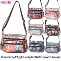 Women Waterproof Nylon Floral Flower Messenger Crossbody Bags bolsa feminina mujer Travel Hobo bags Roomy Light-weight