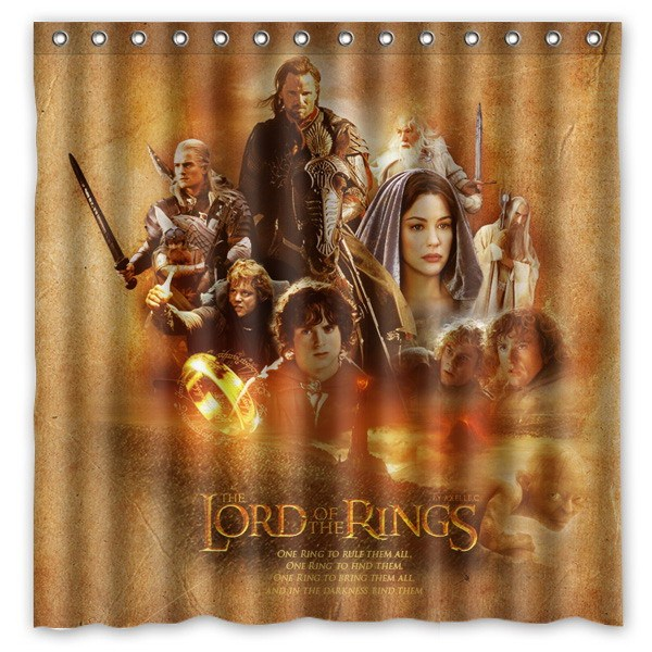 The Lord of The Rings Pattern Creative Bath Shower Curtains Bathroom ...
